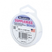 Beadalon Stringing Wire Supplemax Braided 0.50mm 25 meter Clear