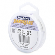 Beadalon stringing wire Dandyline 0.20mm White