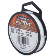 Beadalon Wildfire Wire 0.20mm Frost White