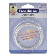 Beadalon German Style Wire 18Gauge Round Silver