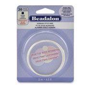 Beadalon German Style Wire 20Gauge Square Wire Silver