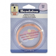 Beadalon German Style Wire 20Gauge Round Copper