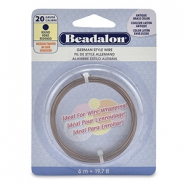 Beadalon German Style Wire 20Gauge Round Antique Brass