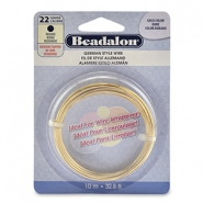 Beadalon German Style Wire 22Gauge Round Gold
