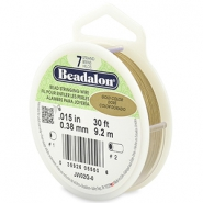 Beadalon stringing wire 7 strand 0.38mm Gold