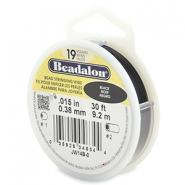 Beadalon stringing wire 19 strand 0.38mm Black