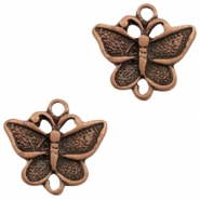 Charms TQ metal connector butterfly Copper (Nickel Free)
