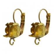 Findings TQ metal earrings adjustable for chaton SS39 with loop Antique Bronze (Nickel Free)