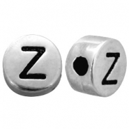 Metal-look beads letter Z Antique Silver