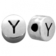 Metal-look beads letter Y Antique Silver