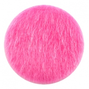 Faux fur cabochons 35mm Fuchsia Pink