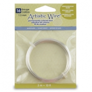 16 Gauge Artistic Wire Silver Plated Tarnish Resistant Silver