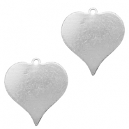 ImpressArt stamping blanks charms heart 20mm Alkeme Silver