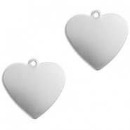 ImpressArt stamping blanks charms heart 13mm Alkeme Silver