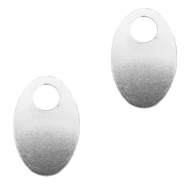 ImpressArt stamping blanks charms oval 30x20mm Aluminum Silver