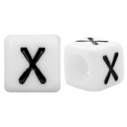 Acrylic letter beads letter X White