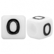 Acrylic letter beads letter O White