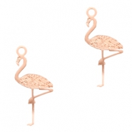 Bohemian charms flamingo Rose Gold