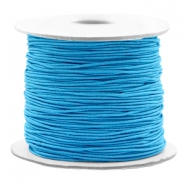 Coloured elastic cord 0.8mm Aqua Blue