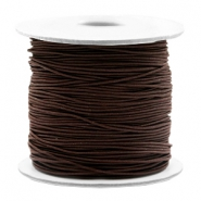 Coloured elastic cord 0.8mm Dark Brown