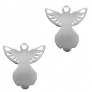Stainless steel charms angel Silver
