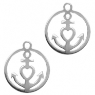 Stainless steel charms anchor Silver