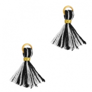Tassels 1cm Gold-Black White