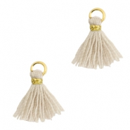 Tassels 1cm Gold-Bleached Sand Brown