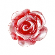 Rose beads 10mm Red-Silver Coating