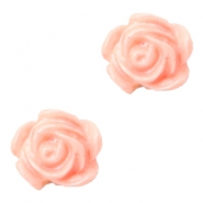 Rose beads 6mm White-Coral Peach