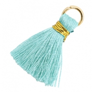 Tassels 1.8cm Gold-Mint Aqua Blue