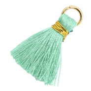 Tassels 1.8cm Gold-Meadow Turquoise