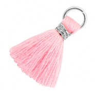 Tassels 1.8cm Silver-Candy Pink