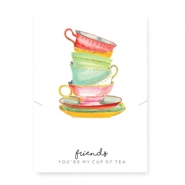 "Jewellery cards ""cup of tea"" White-Multicolour"