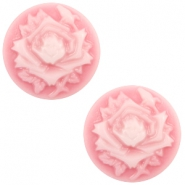 Basic cabochon cameo 20mm rose Pink-White