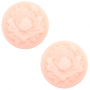 Basic cabochon cameo 20mm rose Light Pink-Off White