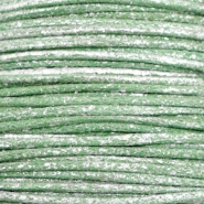 Waxed cord metallic 0.5mm Leaf Green