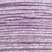 Waxed cord metallic 0.5mm Lavender Purple