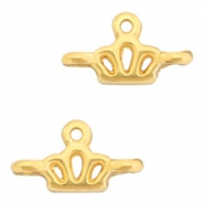 DQ European metal charms connector crown Gold (nickel free)