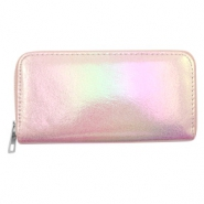 Trendy wallets holographic Metallic Light Pink