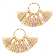 Tassels charm Gold-Multicolour Rainbow Yellow
