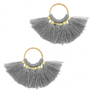 Tassels charm Gold-Dark Grey