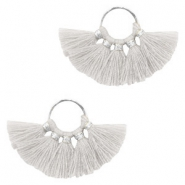 Tassels charm Silver-Light Grey