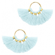 Tassels charm Gold-Light Blue