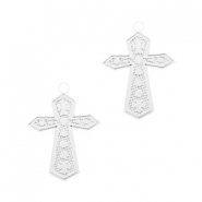 Bohemian charms cross Silver
