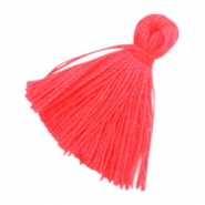 Tassels basic 2cm Hot Coral Pink