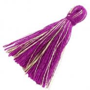 Tassels basic goldline 3cm Royal Purple