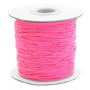 Coloured elastic cord 0.8mm Hot Pink