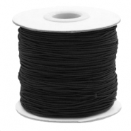 Coloured elastic cord 1mm Black