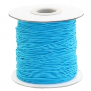 Coloured elastic cord 1mm Aqua Blue